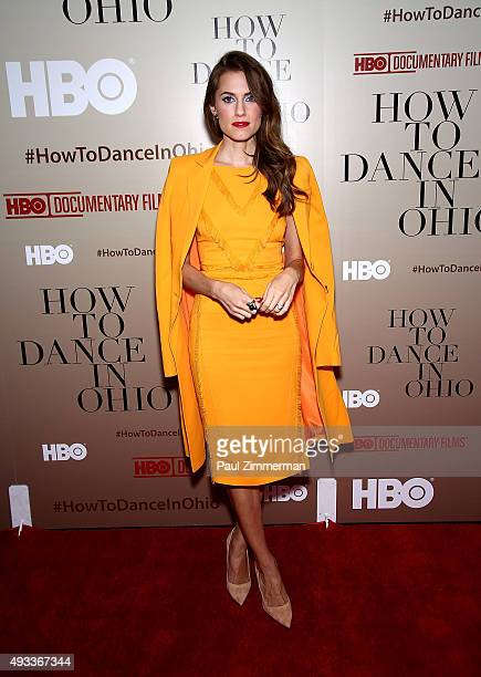 Actress Allison Williams attends 'How To Dance In Ohio' premiere at Time Warner Center on October 19 2015 in New York City