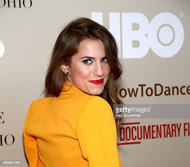 Actress Allison Williams attends How To Dance In Ohio premiere at Time Warner Center on October 19 2015 in New York City