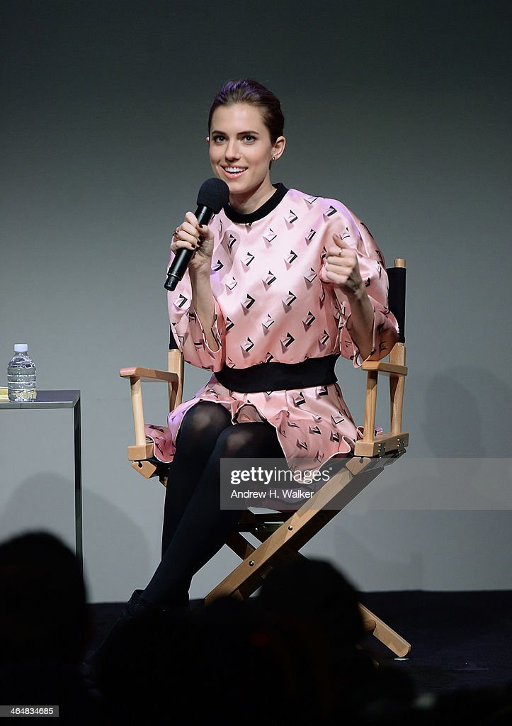 Actress Allison Williams attends 'Meet The Actors' at Apple Store Soho on January 23, 2014 in New York City.