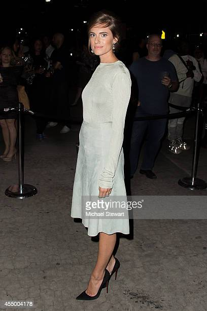 Actress Allison Williams attends Rag & Bone during Mercedes-Benz Fashion Week Spring 2015 at Skylight at Moynihan Station on September 8, 2014 in New...