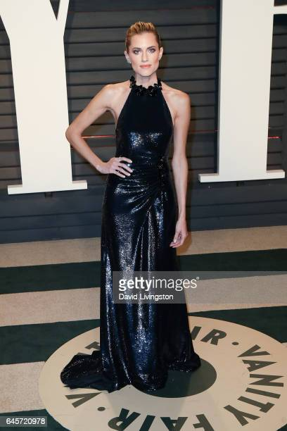 Actress Allison Williams attends the 2017 Vanity Fair Oscar Party hosted by Graydon Carter at the Wallis Annenberg Center for the Performing Arts on...