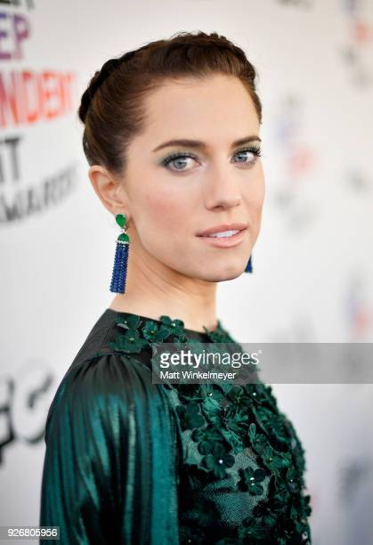 Actress Allison Williams attends the 2018 Film Independent Spirit Awards on March 3 2018 in Santa Monica California