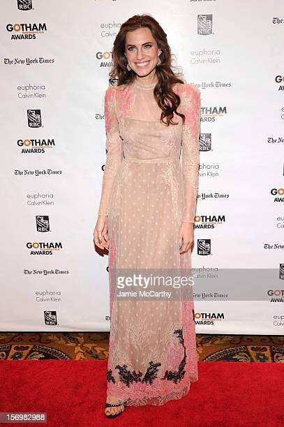 Actress Allison Williams attends the 22nd Annual Gotham Independent Film Awards at Cipriani Wall Street on November 26 2012 in New York City