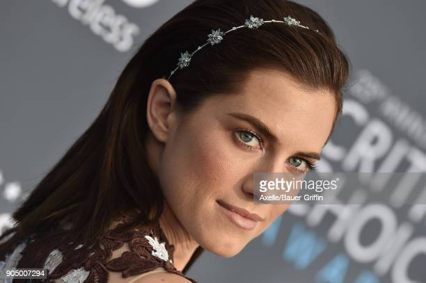 Actress Allison Williams attends the 23rd Annual Critics' Choice Awards at Barker Hangar on January 11 2018 in Santa Monica California