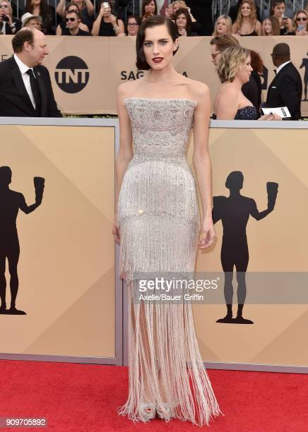 Actress Allison Williams attends the 24th Annual Screen Actors Guild Awards at The Shrine Auditorium on January 21 2018 in Los Angeles California