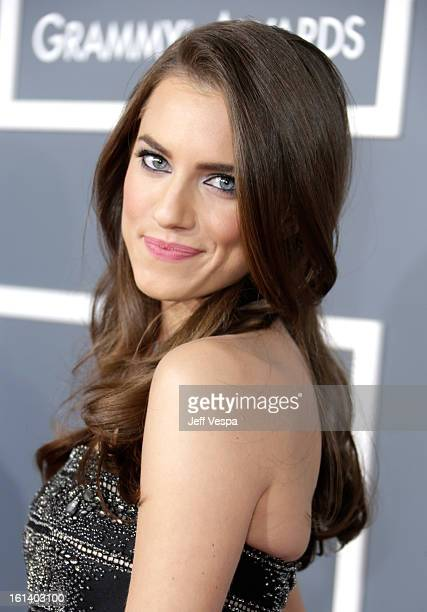 Actress Allison Williams attends the 55th Annual GRAMMY Awards at STAPLES Center on February 10 2013 in Los Angeles California