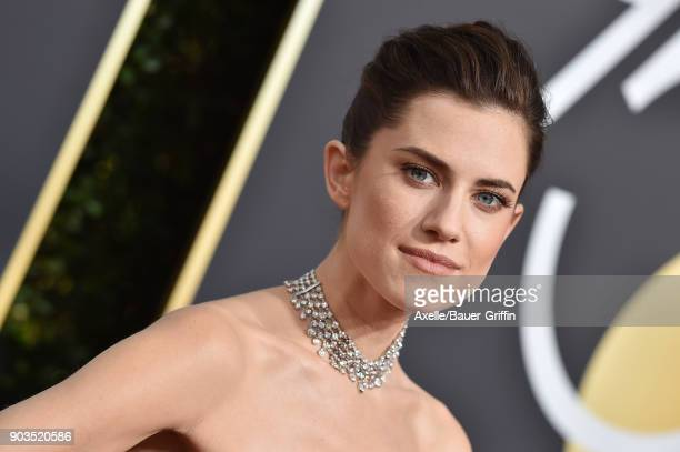 Actress Allison Williams attends the 75th Annual Golden Globe Awards at The Beverly Hilton Hotel on January 7 2018 in Beverly Hills California