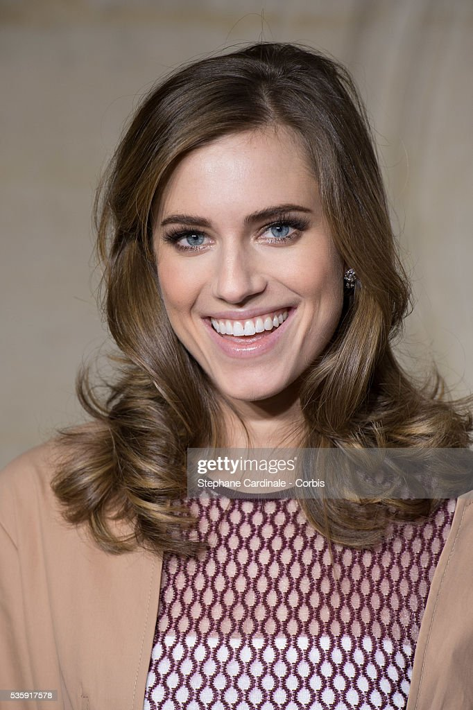 Actress Allison Williams attends the Christian Dior show as part of Paris Fashion Week Haute Couture Spring/Summer 2014, in Paris.
