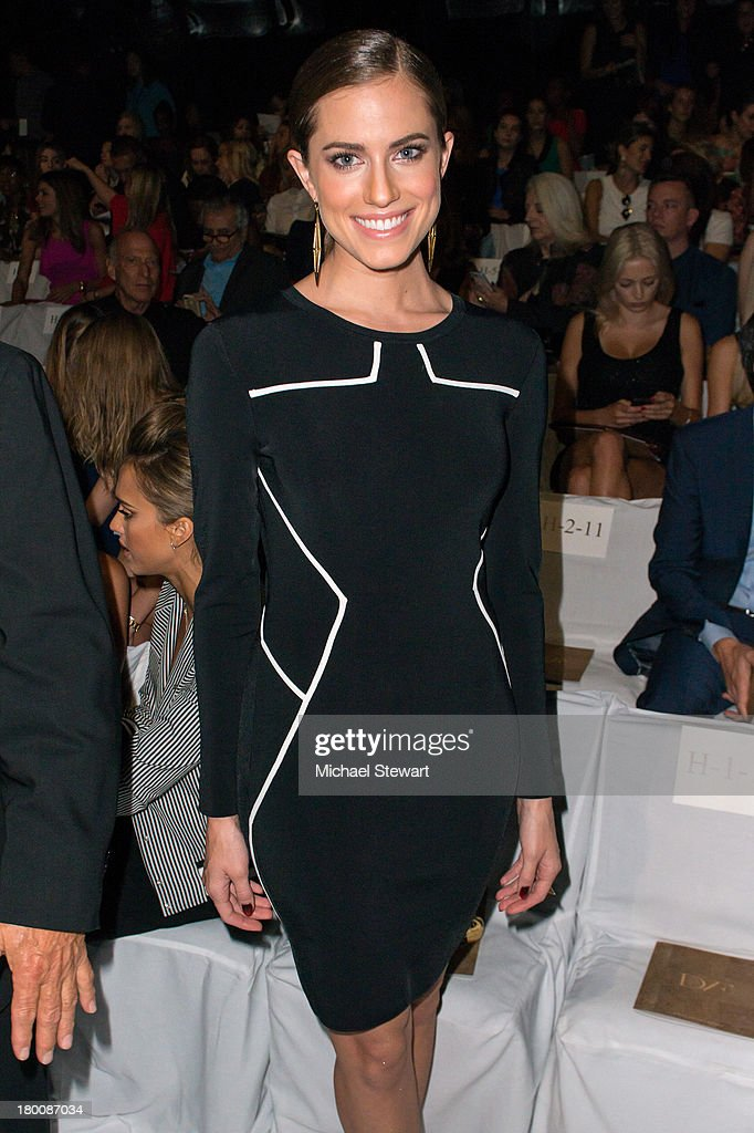Actress Allison Williams attends the Diane Von Furstenberg show during Spring 2014 Mercedes-Benz Fashion Week at The Theatre at Lincoln Center on September 8, 2013 in New York City.