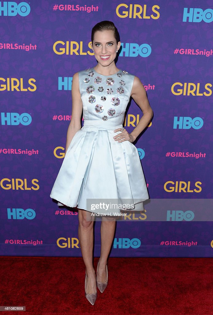 Actress Allison Williams attends the 'Girls' season three premiere at Jazz at Lincoln Center on January 6, 2014 in New York City.