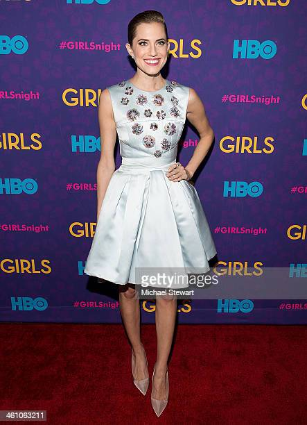 """Actress Allison Williams attends the """"Girls"""" season three premiere at Jazz at Lincoln Center on January 6, 2014 in New York City."""