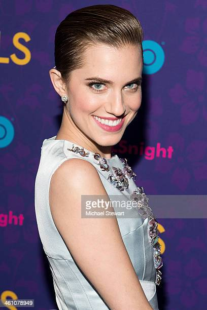 Actress Allison Williams attends the Girls season three premiere at Jazz at Lincoln Center on January 6 2014 in New York City