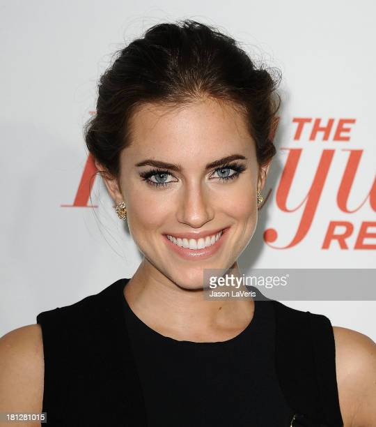 Actress Allison Williams attends the Hollywood Reporter's celebration of the Emmys at Soho House on September 19 2013 in West Hollywood California
