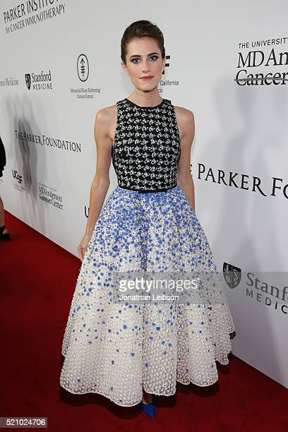 Actress Allison Williams attends the launch of the Parker Institute for Cancer Immunotherapy, an unprecedented collaboration between the country's...