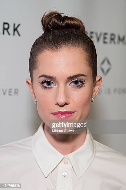 Actress Allison Williams attends 'The One' New York premiere at Stephen Weiss Studio on October 28 2015 in New York City