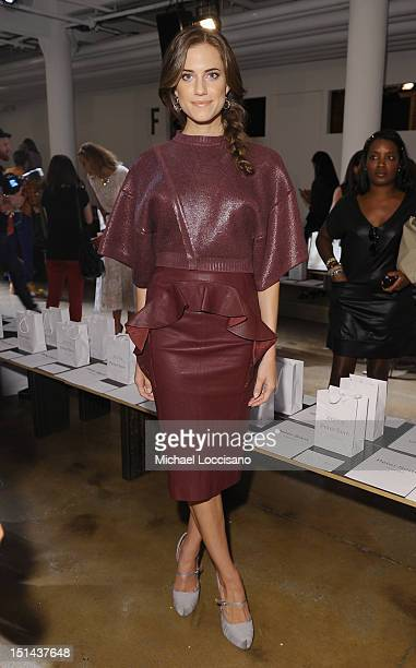 Actress Allison Williams attends the Peter Som spring 2013 fashion show during MercedesBenz Fashion Week at Milk Studios on September 7 2012 in New...