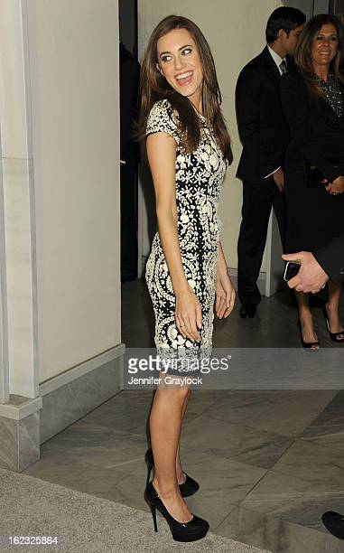 Actress Allison Williams attends the Tom Ford cocktail party in support of Project Angel Food Media held at TOM FORD boutique on February 21 2013 in...