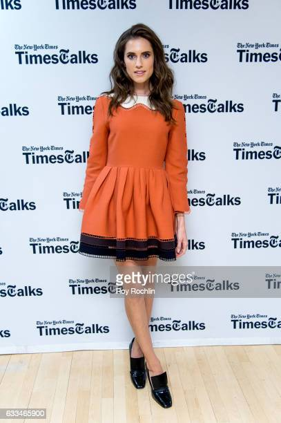 Actress Allison Williams attends TimesTalks a final farewell to the cast of HBO's 'Girls' at NYU Skirball Center on February 1 2017 in New York City