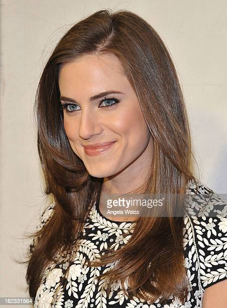 Actress Allison Williams attends Tom Ford's cocktail event in support of Project Angel Food at TOM FORD on February 21 2013 in Beverly Hills...