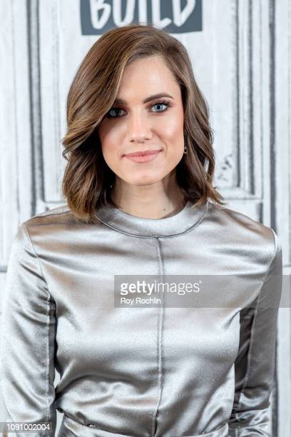 "Actress Allison Williams discusses ""A Series of Unfortunate Events"" with the Build Series at Build Studio on January 07, 2019 in New York City."