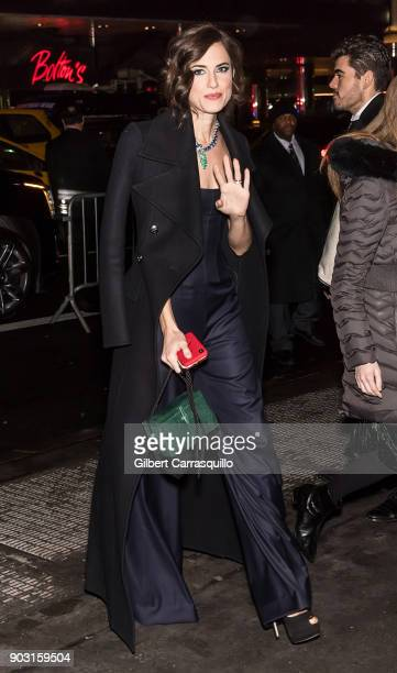 Actress Allison Williams is seen arriving at the 2018 National Board of Review Awards Gala at Cipriani 42nd Street on January 9 2018 in New York City