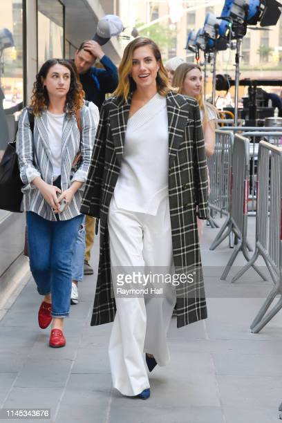 "Actress Allison Williams is seen outside the "" The Today Show"" on May 21, 2019 in New York City."