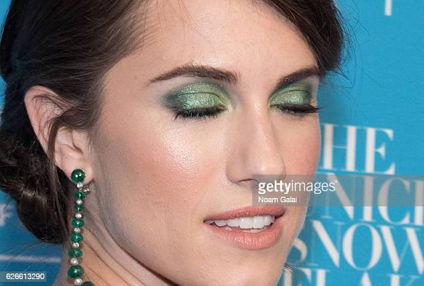 Actress Allison Williams makeup detail attends the 12th Annual UNICEF Snowflake Ball at Cipriani Wall Street on November 29 2016 in New York City