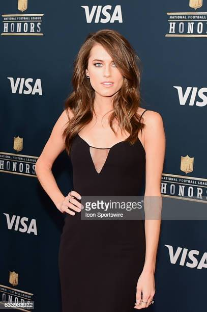 Actress Allison Williams on the Red Carpet during the NFL Honors Red Carpet on February 4 2017 at the Worthan Theater Center Houston Texas