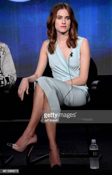 Actress Allison Williams speaks onstage at the 'Girls' panel during the HBO Winter 2014 TCA Panel at The Langham Huntington Hotel and Spa on January...