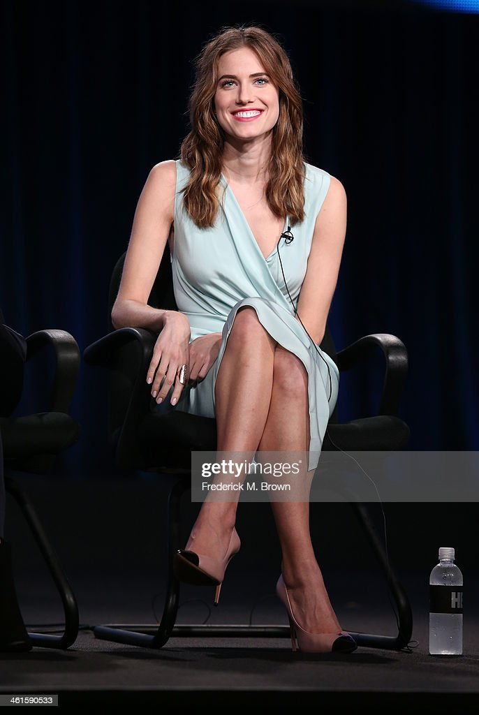 Actress Allison Williams speaks onstage during the 'Girls' panel discussion at the HBO portion of the 2014 Winter Television Critics Association tour at the Langham Hotel on January 9, 2014 in Pasadena, California.