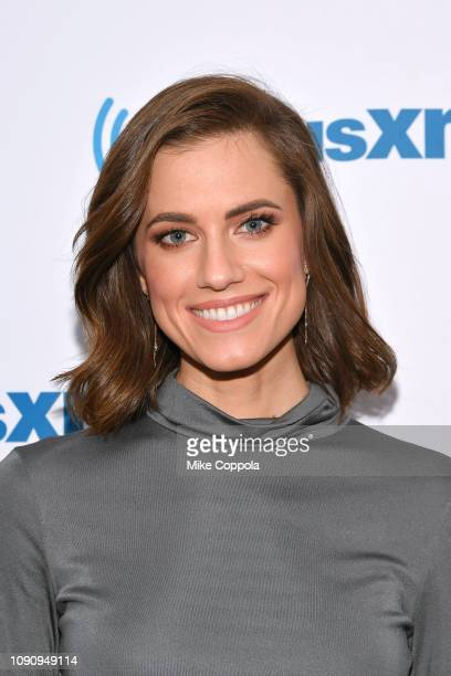 Actress Allison Williams visits the SiriusXM Studios on January 07, 2019 in New York City.