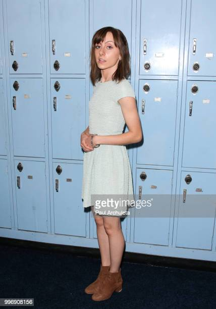 Actress Allisyn Ashley Arm attends the screening of A24's 'Eighth Grade' at Le Conte Middle School on July 11 2018 in Los Angeles California
