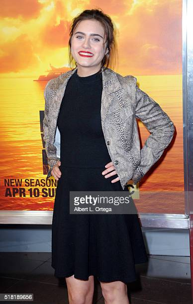 Actress Ally Ioannides arrives for the Premiere Of AMC's 'Fear The Walking Dead' Season 2 held at Cinemark Playa Vista on March 29 2016 in Los...