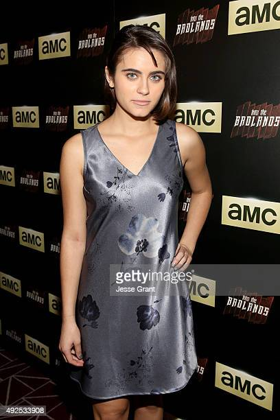 Actress Ally Ioannides attends AMC's 'Into The Badlands' Premiere on October 13 2015 in West Hollywood California