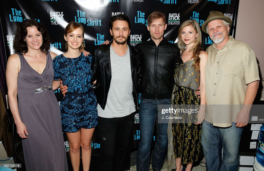 Actress Ally Sheedy, actress Ahna O'Reilly, director James Franco, actors Scott Haze, Allie Gallerani and Brian Lally attend 'The Long Shrift' after party at Rattlestick Playwrights Theater on July 13, 2014 in New York City.