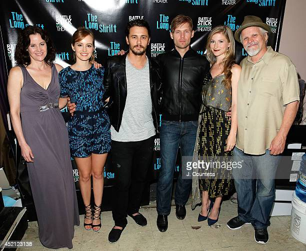 Actress Ally Sheedy actress Ahna O'Reilly director James Franco actors Scott Haze Allie Gallerani and Brian Lally attend The Long Shrift after party...