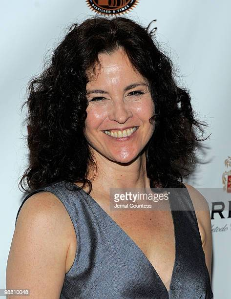 Actress Ally Sheedy arrives at the 2010 Lucille Lortel Awards benefit at Terminal 5 on May 2, 2010 in New York City.