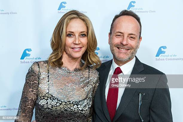 Actress Ally Walker and Honoree and CEO FX Networks FX Productions John Landgraf arrive for the Saban Community Clinic's 40th Annual Dinner Gala at...