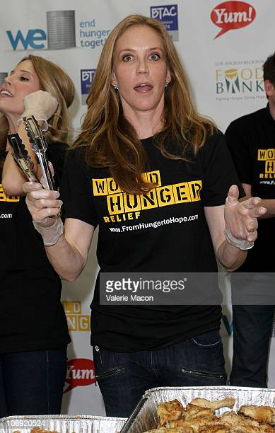 Actress Ally Walker attends Brands For World Hunger Relief Food Drive Boys and Girls Club of Burbank on November 16 2010 in Burbank California