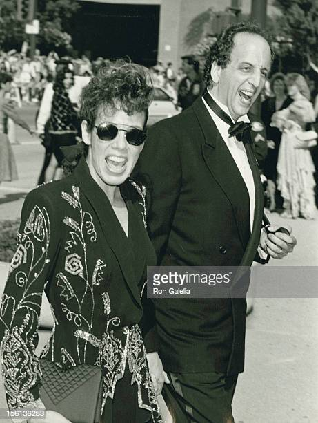 Actress Allyce Beasley and actor Vincent Schiavelli attending 38th Annual Primetime Emmy Awards on September 21 1986 at the Pasadena Civic Auditorium...