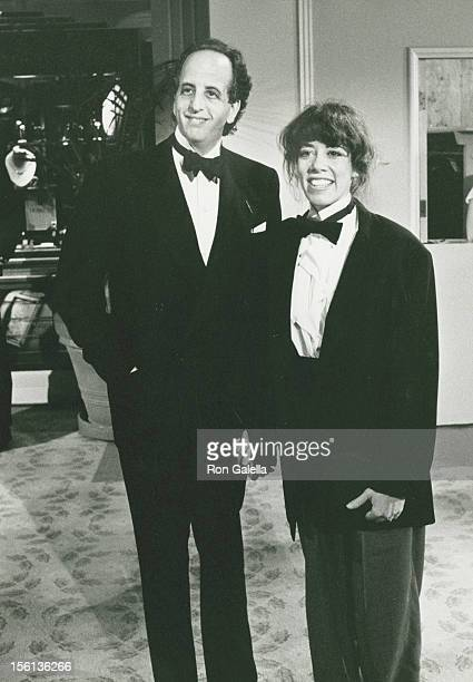 Actress Allyce Beasley and actor Vincent Schiavelli attending 44th Annual Golden Globe Awards on January 31 1987 at the Beverly Hilton Hotel in...