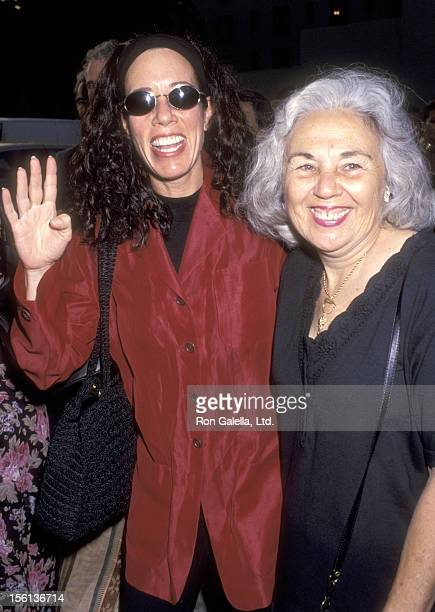 Actress Allyce Beasley and mother attend the 'Five Guys Named Moe' Opening Night Performance on July 15 1993 at James A Doolittle Theatre in...