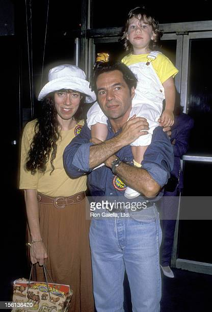 Actress Allyce Beasley son Andrea Schiavelli and her date attend 'The Greatest Show on Earth' Ringling Bros and Barnum Bailey Circus on August 2 1989...