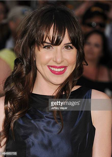 Actress Allyn Rachel arrives at the Los Angeles premiere of 'Million Dollar Arm' at the El Capitan Theatre on May 6 2014 in Hollywood California