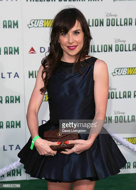 Actress Allyn Rachel attends the premiere of Disney's 'Million Dollar Arm' at the El Capitan Theatre on May 6 2014 in Hollywood California