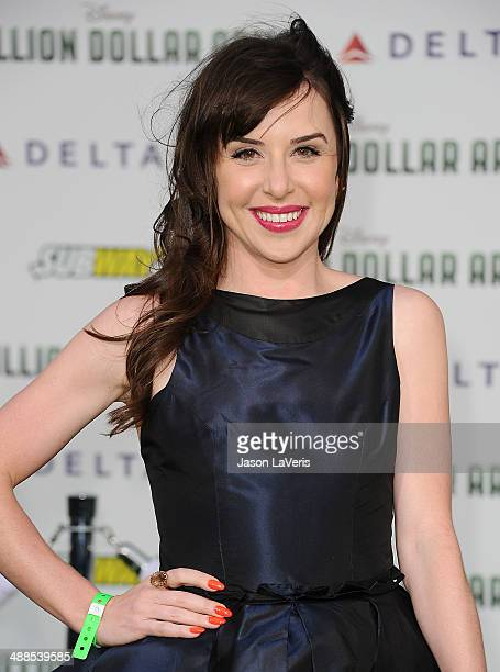 Actress Allyn Rachel attends the premiere of 'Million Dollar Arm' at the El Capitan Theatre on May 6 2014 in Hollywood California