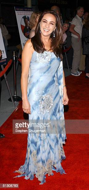 Actress Alma Delfina attends the Los Angeles Premiere of 'Silver City' at The Arclight Cinerama Dome on September 14 2004 in Hollywood California