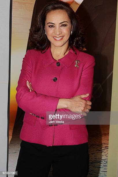 Actress Alma Delfina attends the presentation of the soap opera Vidas Robadas at Camino Real Pedregal Hotel on March 3 2010 in Mexico City Mexico
