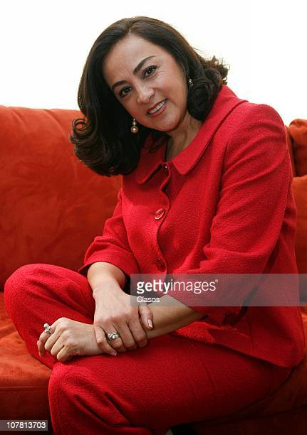 Actress Alma Delfina poses for a photograph during a photo session on December 29 2010 in Mexico City Mexico