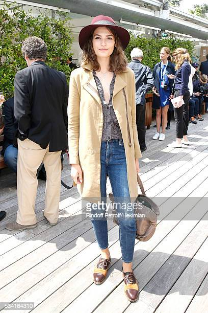 Actress Alma Jodorowsky attends the 2016 French Tennis Open Day Four at Roland Garros on May 25 2016 in Paris France